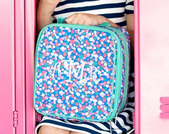 Monogrammed Confetti Pop Lunchbox | Personalized Lunchbox