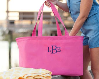 Monogrammed Ultimate Tote | Trunk Organizer | Reusable Grocery Bag | Maid of Honor | Retirement Gift | Camping Bag | Teacher Organizer Bag