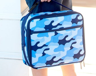 Monogrammed Cool Camo Lunchbox | Personalized Lunchbox