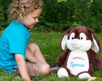 Big Sister | Big Brother Stuffed Rabbit | Chocolate Easter Rabbit | Ring Bearer | Flower Girl Gift | Adoption Day Gift