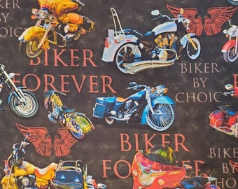 100% Solid Cotton | Biker | Motorcycle Quilting Fabric | Fabric for Mask