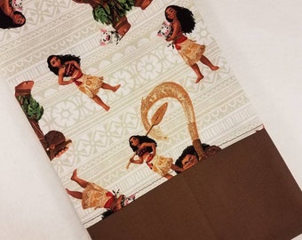 STANDARD Personalized Pillow Case made with Moana and Maui fabric