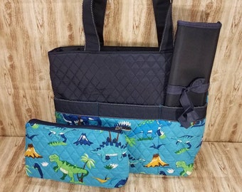 Personalized Diaper Bag | Personalized Diaper Bag | Dinosaur Diaper Bag | New Baby Gift | Baby Shower Gift