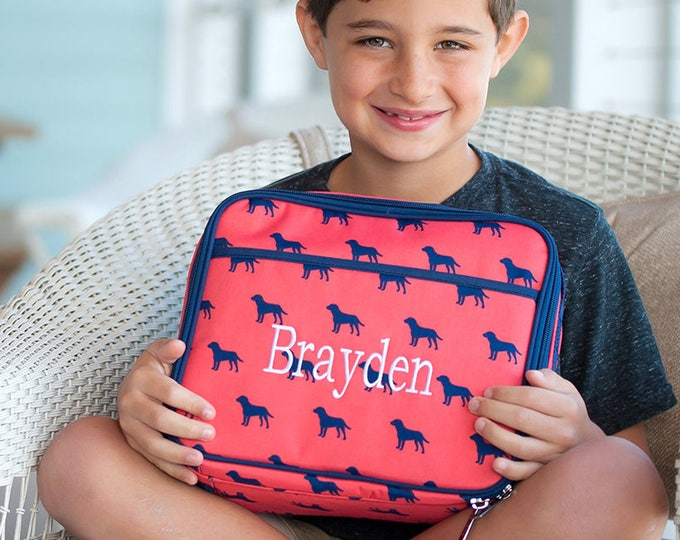 Featured listing image: Monogrammed Dog Days Lunchbox | Personalized Lunchbox