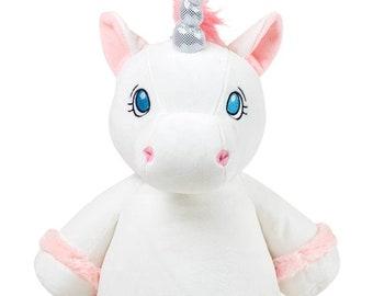 Personalized Big Sister Gift   Little Sister   White Unicorn   Flower Girl   Baby Shower Gift   Adoption Day Gift