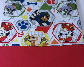 STANDARD Personalized Pillow Case made with Paw Patrol Mission Pawsible Fabric