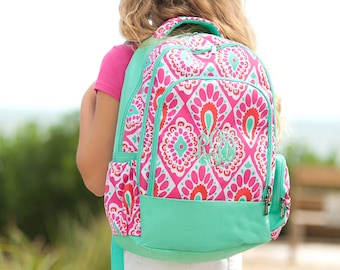 Personalized Beachy Keen Backpack | Girls Backpack | School Backpack | Monogrammed Book Bag