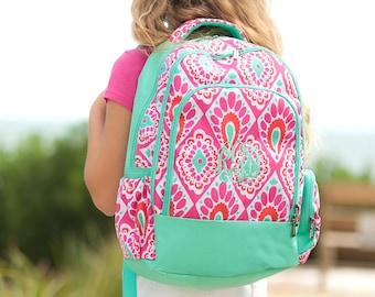 Monogrammed Beachy Keen Backpack | Girls Backpack | School Backpack | Monogrammed Book Bag