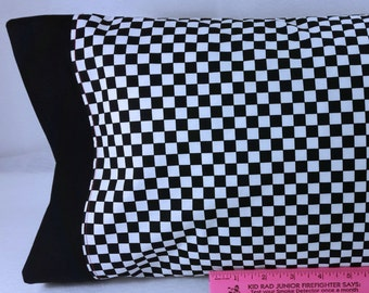 Racing MINI Checkered Flag Themed STANDARD Personalized Pillow Case