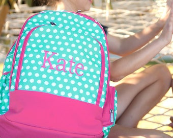 Monogrammed Backpack | Hadley Bloom Backpack | Personalized Backpack | Backpack for Girl