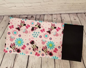 STANDARD Personalized Pillow Case made with Minnie Mouse Fabric