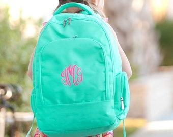 Monogrammed Backpack | Personalized Backpack | Mint Backpack