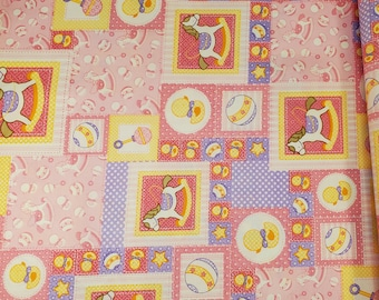 Cotton Fabric | 100% Cotton | Baby Girl Pink Fabric | Fabric for Mask