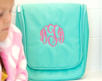 Personalized Hanging Toiletry Bag | Personalized Hanging Cosmetic Bag | Travel Toiletry Bag