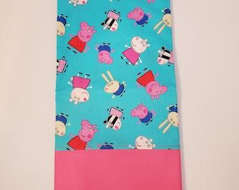 Standard Size Pillow Case   Peppa Pig Themed   100% Cotton
