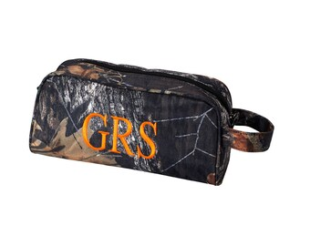 Personalize Toiletry Bag Camo | Personalized Groomsmen Gift | Boys Travel Accessory | Realtor Gift | Fathers Day | Ring Bearer Gift