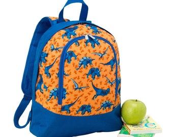 Monogrammed PRE SCHOOL Bookbag | Dinosaur Backpack