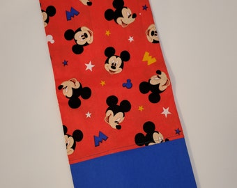 Standard Size Pillow Case   Mickey Mouse Themed   100% Cotton