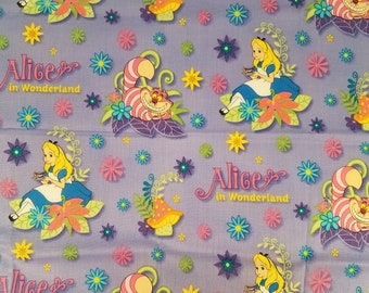TODDLER/TRAVEL Personalized Pillow Case made with Alice in Wonderland Fabric