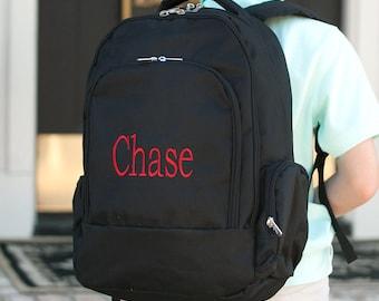 Personalized Backpack | Monogrammed Backpack | Black Backpack