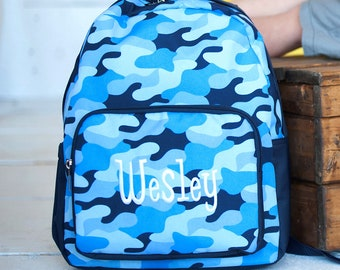 Monogrammed PRE SCHOOL Cool Camo Backpack | Toddler Backpack | Backpack Personalized | Carry on Travel Bag | Boys Backpack