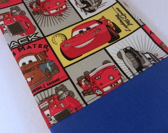 TODDLER/TRAVEL Personalized Pillow Case made with Cars Block Lightening McQueen Mater Fabric | Daycare Pillow | Preschool Pillow