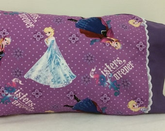 Frozen Sisters Themed TODDLER / TRAVEL Personalized Pillow Case | Daycare Pillow | Preschool Pillow