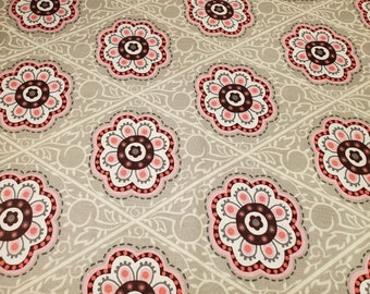 Cotton Fabric | 100% Cotton | Pink Medallions Fabric| Fabric for Mask
