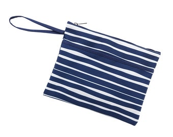 Personalized Tide lines Zip Pouch | Bikini Bag | Bridesmaid Gift | Maid of Honor | Retirement Gift | Make up Bag