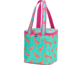 Personalized Beach Cooler | Tickled Pink Flamingo Cooler Bag | Large Cooler Bag | Bridesmaid Gift | Graduation Gift | Realtor Gift