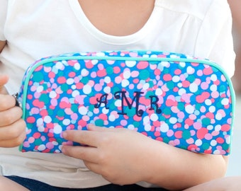 Monogrammed Pencil Pouch | Confetti Pop | Personalized Pencil Pouch