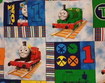 Crib Sheet / Toddler Bed Sheet made with Thomas the Train Print Fabric