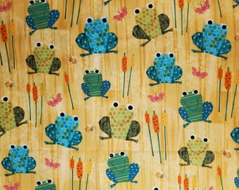 Cotton Fabric | 100% Cotton | Frogs | Fabric for Mask
