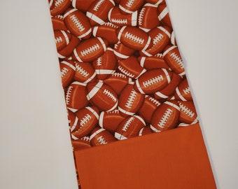 Standard Size Pillow Case   Football Themed   100% Cotton