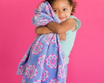 Monogrammed PRE-School Blanket | Zoey Blanket | Personalized Blanket | Kindergarten Nap Blanket