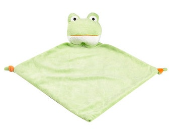 Frog Lovey | New Baby Gift Idea | Animal Blanket |  | Stocking Stuffer | Security Blanket | Adoption Day Gift