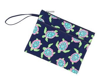 Personalized Zip Pouch | Turtle Bay Bikini Bag | Bridesmaid Gift | Maid of Honor | Retirement Gift | Make up Bag