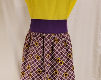 Ladies Apron | One Size | Sunflowers