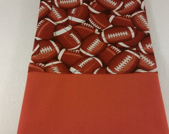 Football Themed TODDLER / TRAVEL Personalized Pillow Case | Daycare Pillow | Preschool Pillow