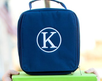 Personalized Lunchbox | Monogrammed Navy Lunch Cooler