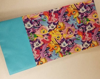Standard Personalized Pillowcase made with My Little Pony Print Fabric