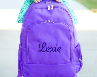 Personalized Backpack | Personalized Backpack | Purple Backpack | Backpack for Girl