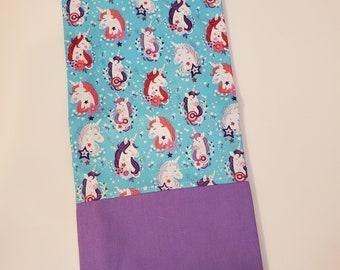 Standard Size Pillow Case   Unicorn Themed   100% Cotton