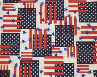 Cotton Fabric Americana | 100% Cotton | Fabric for Mask | Flag Print