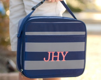 Monogrammed Greyson Lunch Cooler | Personalized Lunchbox | Boys Lunchbox