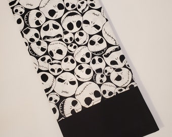 Standard Personalized Pillow Case made with Jack Skellington Fabric   Nightmare Before Christmas