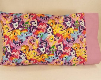 TODDLER / TRAVEL Personalized Pillow Case made with My Little Pony Fabric | Daycare Pillow | Preschool Pillow