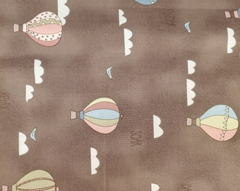 Cotton Fabric 35 inches Hot Air Ballons | 100% Cotton | Fabric for Mask