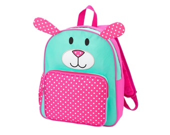 Personalized Backpack   Personalized PRE SCHOOL Backpack  Pink Puppy Dog Backpack