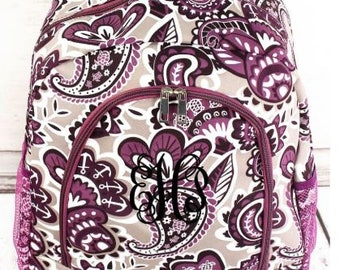Personalized Backpack | Personalized Backpack | Paisley Paradise Backpack | Back to School | Backpack for Girl